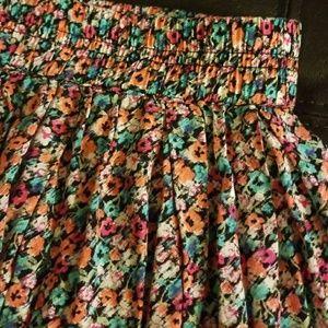 Aeropostale Floral Pleated Skirt